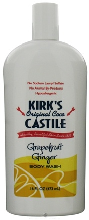 DROPPED: Kirk's Natural - Original Coco Body Wash Grapefruit Ginger - 16 oz. CLEARANCED PRICED
