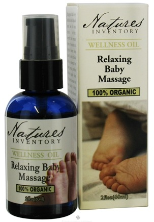 DROPPED: Nature's Inventory - Wellness Oil 100% Organic Relaxing Baby Massage - 2 oz. CLEARANCE PRICED