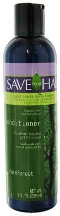 DROPPED: Save Your World - Save Your Hair Conditioner Rainforest - 8 oz. CLEARANCE PRICED