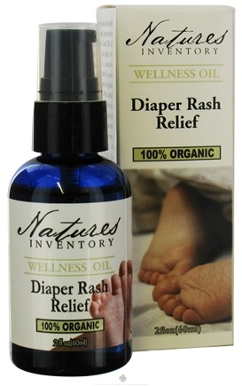 DROPPED: Nature's Inventory - Wellness Oil 100% Organic Diaper Rash Relief - 2 oz. CLEARANCE PRICED