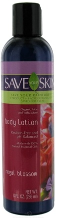 DROPPED: Save Your World - Save Your Skin Body Lotion Regal Blossom - 8 oz. CLEARANCE PRICED
