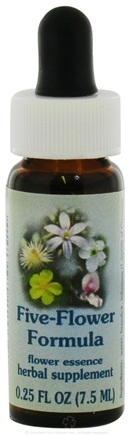 DROPPED: Flower Essence Services - Healing Herbs Dropper Five-Flower Formula - 0.25 oz. CLEARANCE PRICED