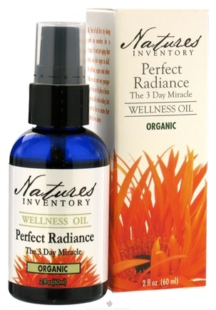 DROPPED: Nature's Inventory - Wellness Oil Organic Perfect Radiance The 3 Day Miracle - 2 oz.