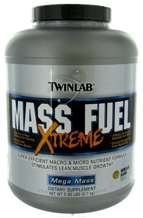 DROPPED: Twinlab - Mass Fuel Xtreme Powder Vanilla Blast - 5.95 lbs. CLEARANCE PRICED