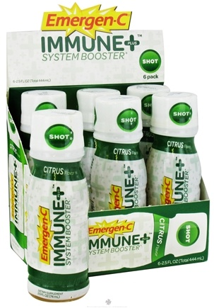 DROPPED: Alacer - Emergen-C Immune Plus System Booster 6 x 2.5 oz. Shot Bottles Citrus