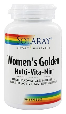 Solaray - Women's Golden Multi-Vita-Min - 90 Capsules