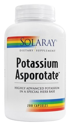 Solaray - Potassium Asporotate 99 mg. - 200 Capsules
