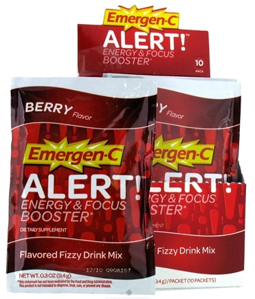 DROPPED: Alacer - Emergen-C Alert Energy & Focus Booster Drink Powder-Berry Berry - 10 Packet(s)