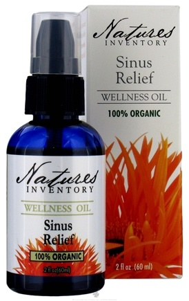 DROPPED: Nature's Inventory - Wellness Oil 100% Organic Sinus Relief - 2 oz. CLEARANCE PRICED