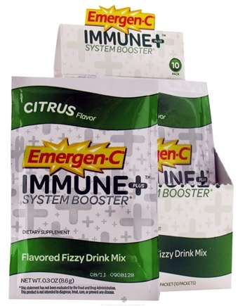 DROPPED: Alacer - Emergen-C Immune Plus System Booster Drink Powder Citrus - 10 Packet(s)