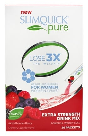 SlimQuick - Fat Burner Designed for Women Mixed Berries - 26 Packet(s)