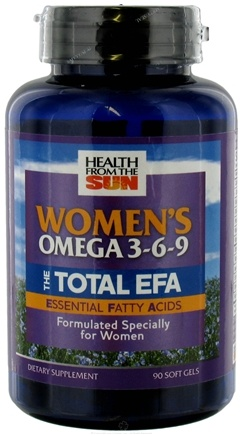 DROPPED: Health From The Sun - The Total EFA Women's Omega 3-6-9 - 90 Softgels