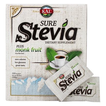 Kal - Pure Stevia Extract Plus Luo Han Powder - 100 Packet(s)