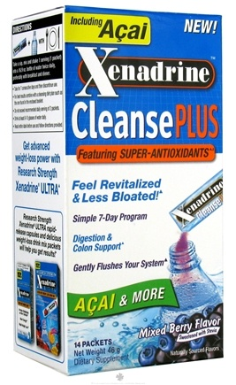 DROPPED: Cytogenix Laboratories - Xenadrine Cleanse Plus with Acai Mixed Berry - 14 Packet(s) CLEARANCE PRICED