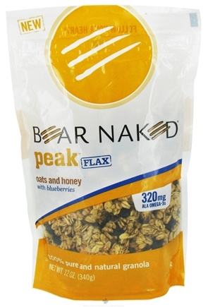 DROPPED: Bear Naked - Peak Flax Granola 100% Pure & Natural Oats and Honey with Blueberries - 12 oz. CLEARANCED PRICED