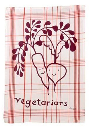DROPPED: Blue Q - Vegetarian Cotton Dish Towel - CLEARANCE PRICED