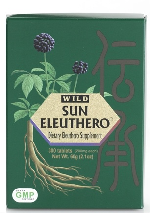 DROPPED: Sun Chlorella - Wild Sun Eleuthero 200 mg. - 300 Tablets CLEARANCE PRICED