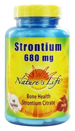 Nature's Life - Strontium 680 mg. - 60 Tablets