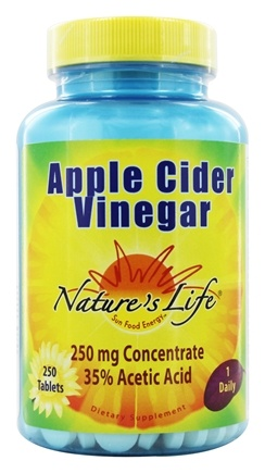 Nature's Life - Apple Cider Vinegar 250 mg. - 250 Tablets