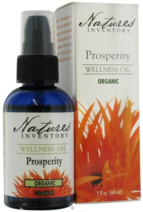 DROPPED: Nature's Inventory - Wellness Oil Organic Prosperity - 2 oz. CLEARANCE PRICED