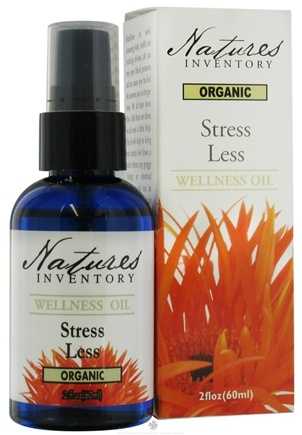 DROPPED: Nature's Inventory - Wellness Oil Organic Stress Less - 2 oz. CLEARANCE PRICED