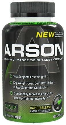 DROPPED: Muscle Asylum Project - Arson High-Performance Weight-Loss Complex - 120 Capsules