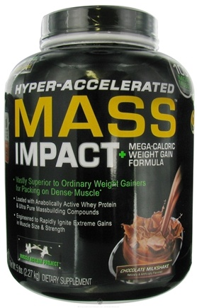 DROPPED: Muscle Asylum Project - Mass Impact Hyper Accelerated Weight Gainer Chocolate Milkshake - 5 lbs.