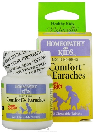 DROPPED: Herbs for Kids - Comfort for Earaches Cherry - 125 Chewable Tablets