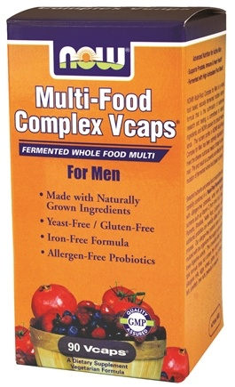DROPPED: NOW Foods - Multi-Food Complex Fermented Whole Food Multi For Men - 90 Vegetarian Capsules