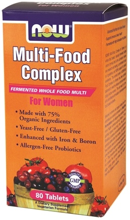 DROPPED: NOW Foods - Multi-Food Complex Fermented Whole Food Multi For Women - 80 Tablets
