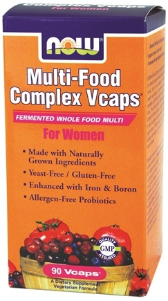 DROPPED: NOW Foods - Multi-Food Complex Vcaps Fermented Whole Food Multi For Women - 90 Vegetarian Capsules