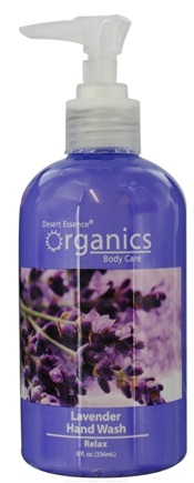 DROPPED: Desert Essence - Organics Hand Wash Relax Lavender - 8 oz. CLEARANCE PRICED