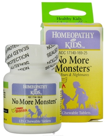 DROPPED: Herbs for Kids - No More Monsters for Fears & Nightmares Yummy Banana - 125 Chewable Tablets CLEARANCE PRICED