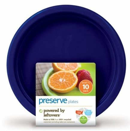 DROPPED: Preserve - Reusable Recycled Plastic Plates Large Midnight Blue - 8 Pack(s) CLEARANCE PRICED