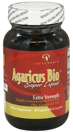 DROPPED: Atlas World - Agaricus Bio Super Liquid Extra Strength - 80 Liquid-Filled Capsules