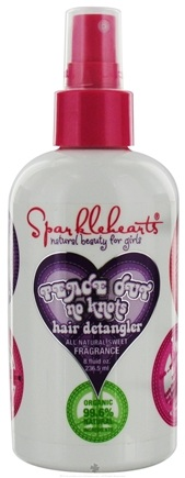 DROPPED: Sparklehearts - Peace Out No Knots Hair Detangler All Natural Sweet Fragrance - 8 oz.