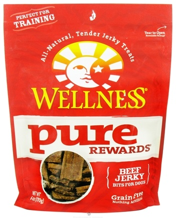 DROPPED: Wellness Pet - Pure Rewards Dog Treats Beef Jerky - 6 oz. CLEARANCE PRICED