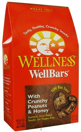 DROPPED: Wellness Pet - Wellbars Dog Treats With Crunchy Peanuts & Honey - 20 oz.