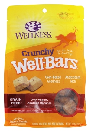 DROPPED: Wellness Pet - Wellbars Dog Treats With Yogurt, Apples, & Bananas - 20 oz. CLEARANCE PRICED
