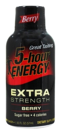 5 Hour Energy - Energy Shot Extra Strength Berry Flavor - 2 oz.