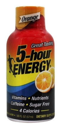5 Hour Energy - Energy Shot Orange Flavor - 2 oz.