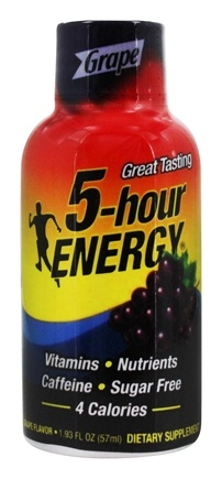 5 Hour Energy - Energy Shot Grape Flavor - 2 oz.