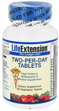 DROPPED: Life Extension - Two-Per-Day High Potency Multivitamin & Mineral - 60 Vegetarian Tablets CLEARANCE PRICED