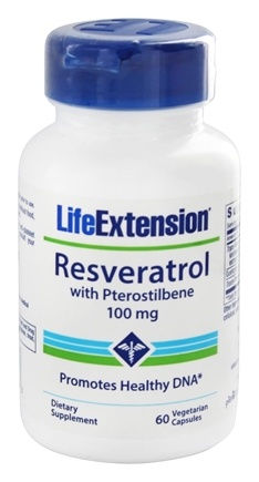 DROPPED: Life Extension - Resveratrol with Pterostilbene 100 mg. - 60 Vegetarian Capsules