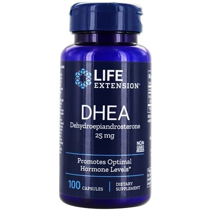 Life Extension - DHEA Dehydroepiandrosterone 25 mg. - 100 Capsules