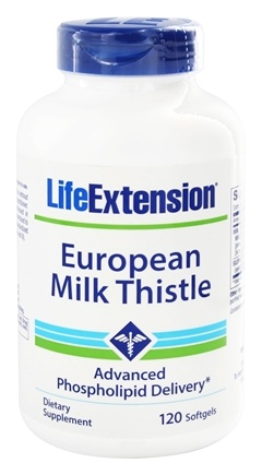 DROPPED: Life Extension - Certified European Milk Thistle - 120 Softgels