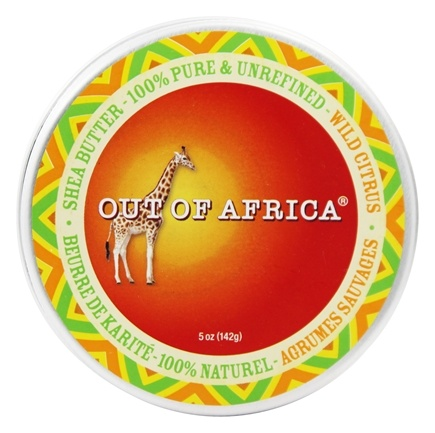 DROPPED: Out Of Africa - Organic Shea Butter Tin 100% Pure & Unrefined Wild Citrus - 5 oz.