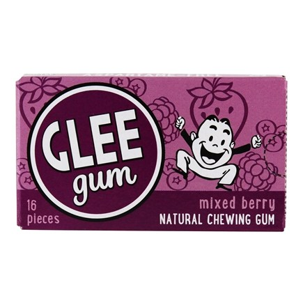 Glee Gum - All Natural Chewing Gum Triple Berry - 16 Piece(s)