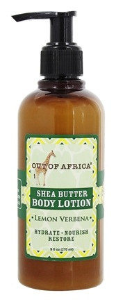 Out Of Africa - Organic Shea Butter Body Lotion With Essential Oil Lemon Verbena - 9 oz.