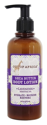 Out Of Africa - Organic Shea Butter Body Lotion With Essential Oil Lavender - 9 oz.